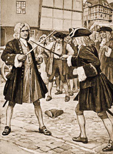 George Handel dueling